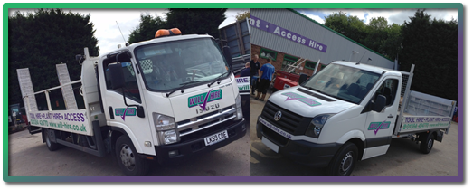 WIllHire's latest vehicles to deliver plant and machinery on site and on time with GPS tracking
