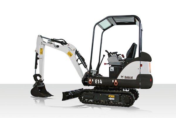 Bobcat E14 1.5ton mini digger excavator