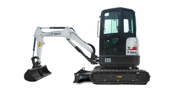 Bobcat 2.5 ton mini digger excavator hire