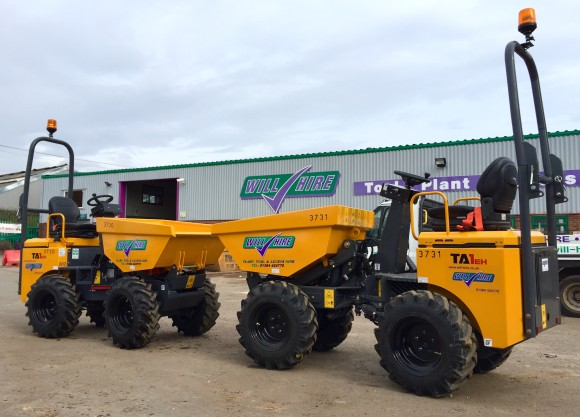1t high lift dumper