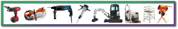 All types of plant and equipment for hire with onsite delivery