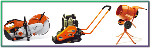 Stilsaws Compactors and Mixing equipment for Hire