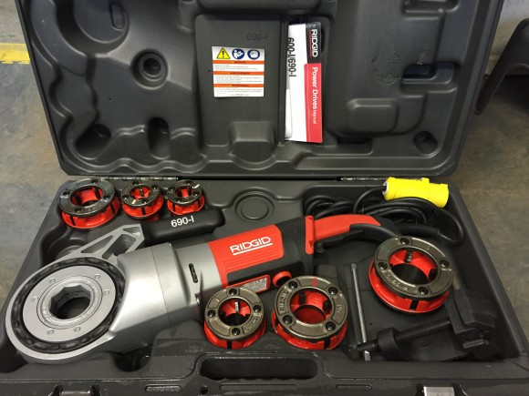 New Ridgid 690-1 Hand Held Threader!