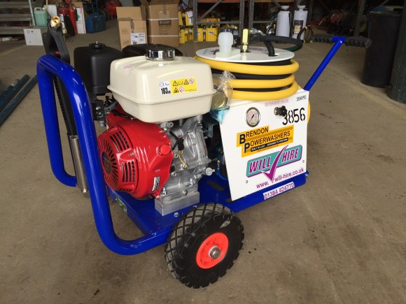 3000psi Petrol Powered Pressure Washer hire by Brendon Powerwashers at Will hire