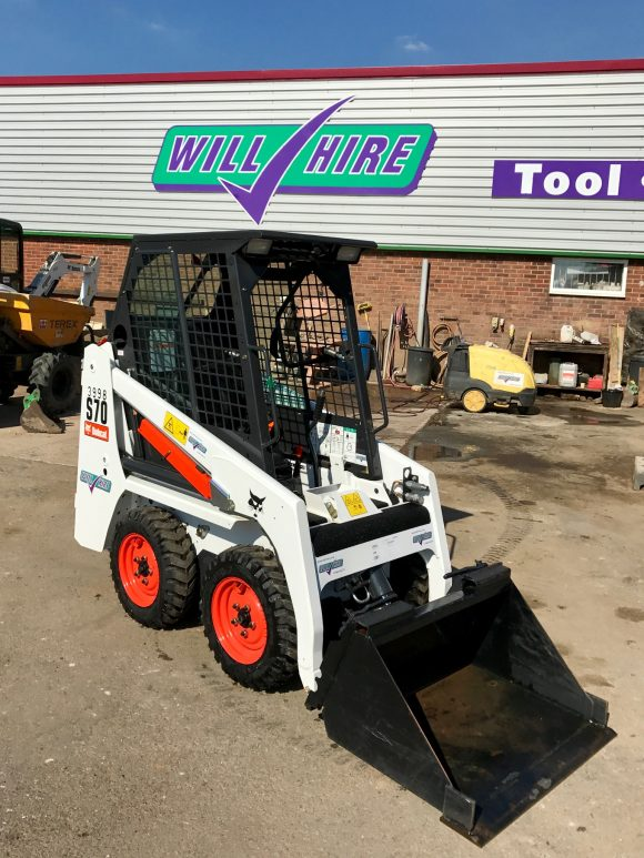 Will Hire Limited plant tool access hire skidsteer loader bobcat S70 hire Stourbridge Dudley Wolverhampton Birmingham Halesowen West Bromwich Bromsgrove Kiddermnster