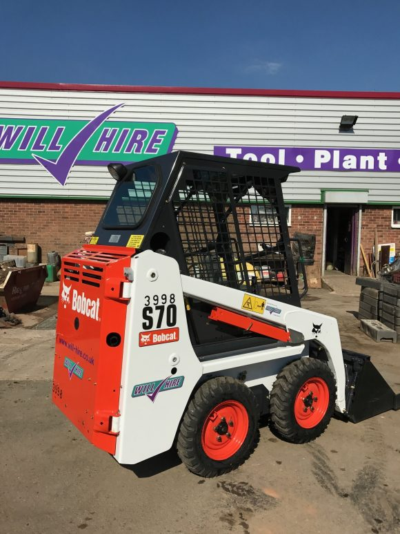 Will Hire Limited plant tool and access hire skidsteer loader bobcat S70 hire