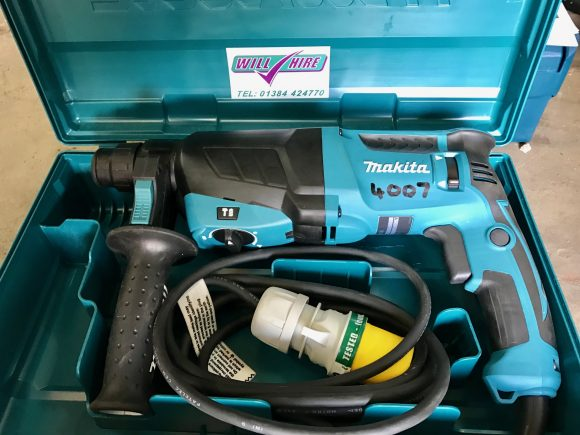 SDS+ Makita rotary hammer drill Will Hire Limited plant tool access hire Stourbridge Dudley Wolverhampton Birmingham Halesowen West Bromwich Bromsgrove Kiddermnster