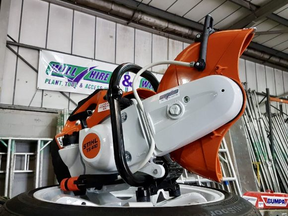 "Stihl saw TS410 12"" cut off saw 2-stroke Will Hire Limited plant tool access hire Stourbridge Dudley Wolverhampton Birmingham Halesowen West Bromwich Bromsgrove Kiddermnster"