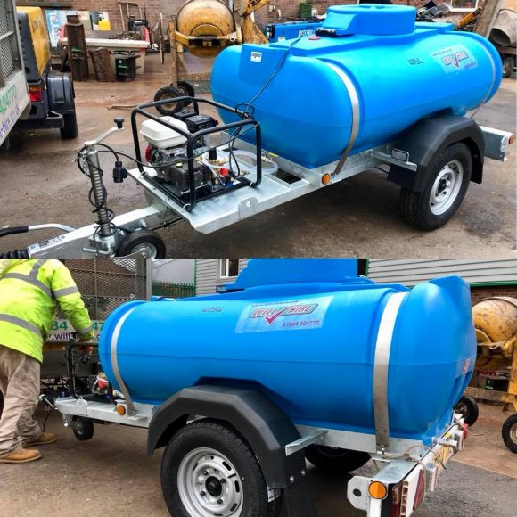 Bowser petrol pressure washer Will Hire Limited plant tool access hire Stourbridge Dudley Wolverhampton Birmingham Halesowen West Bromwich Bromsgrove Kiddermnster